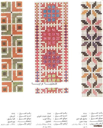 Palestinian Cross Stitch Patterns - Majida Awashreh - Picasa Web Albums