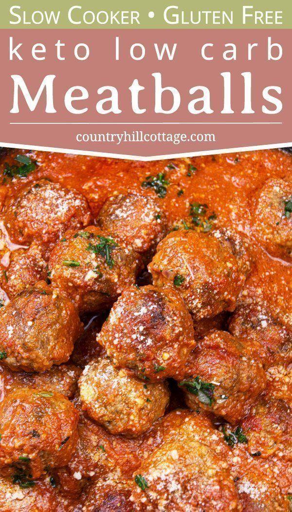 Slow Cooker Keto Meatballs Recipe Keto Meatballs Meatball