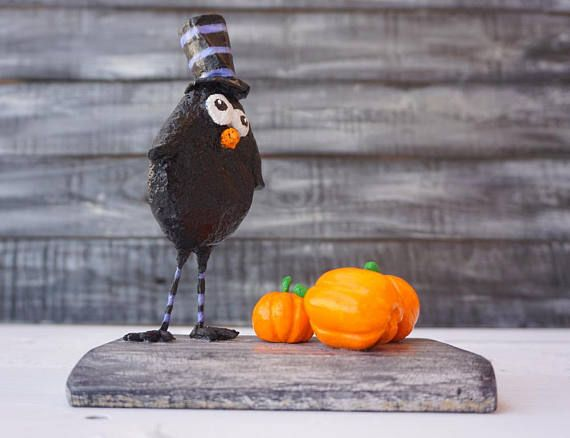 Halloween Decor Cute Halloween Fall Decor Black Bird Paper