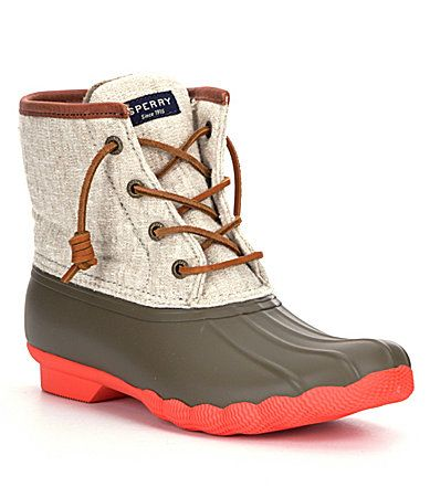Sperry Saltwater Waterproof Duck Boots #Dillards