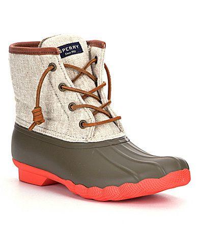 Sperry Saltwater Waterproof Duck Boots #Dillards