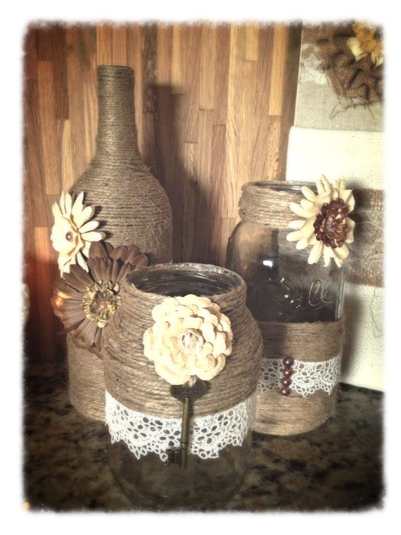 set of 3 Uniquely Hand Crafted Vases and by PicketsAndPaisleys, $45.00