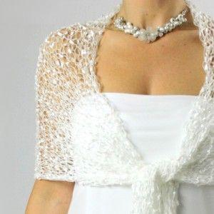 Z čisté lásky... luxusní svatební šála bílá