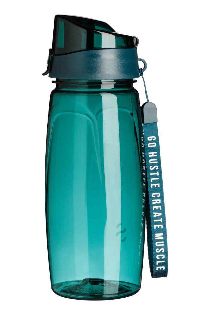 Botella de agua con tapón - Turquesa oscuro - HOMBRE   H&M ES 1