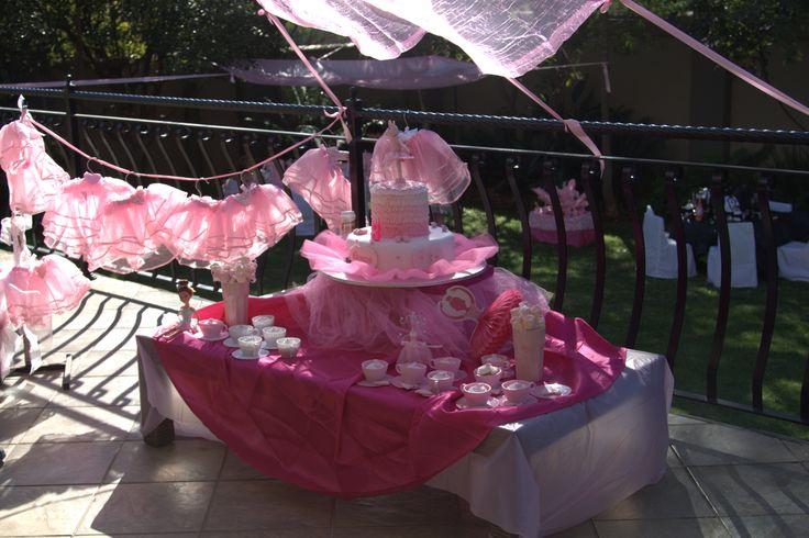 Angelina ballerina party table