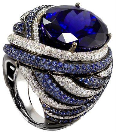 Sapphire & Diamond C beauty bling jewelry fashion