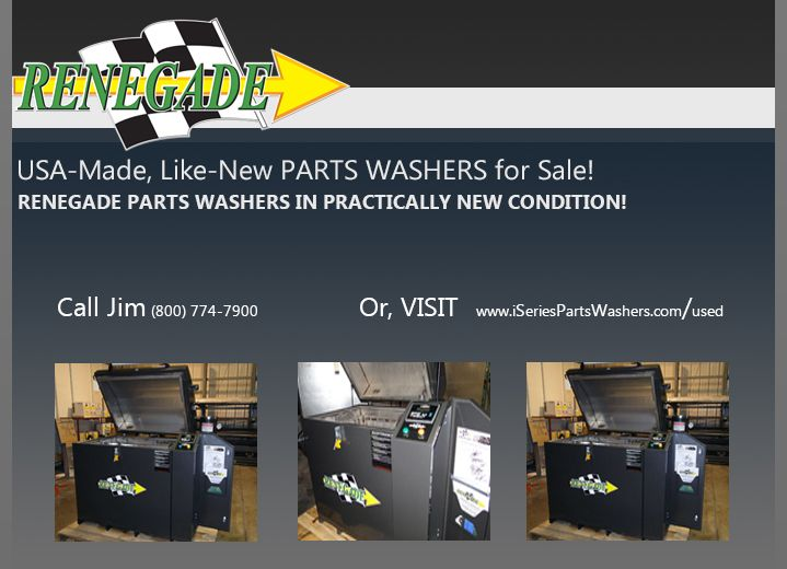 the iseries industrial part washer team currently has three likenew