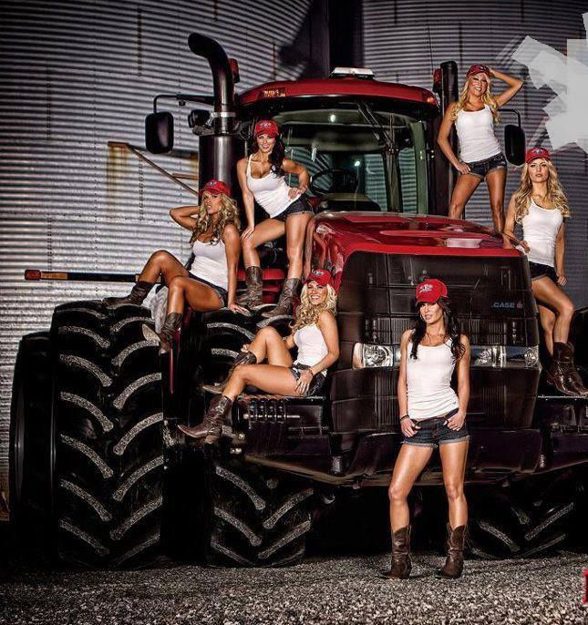 Hot hot girls with tractors — 7