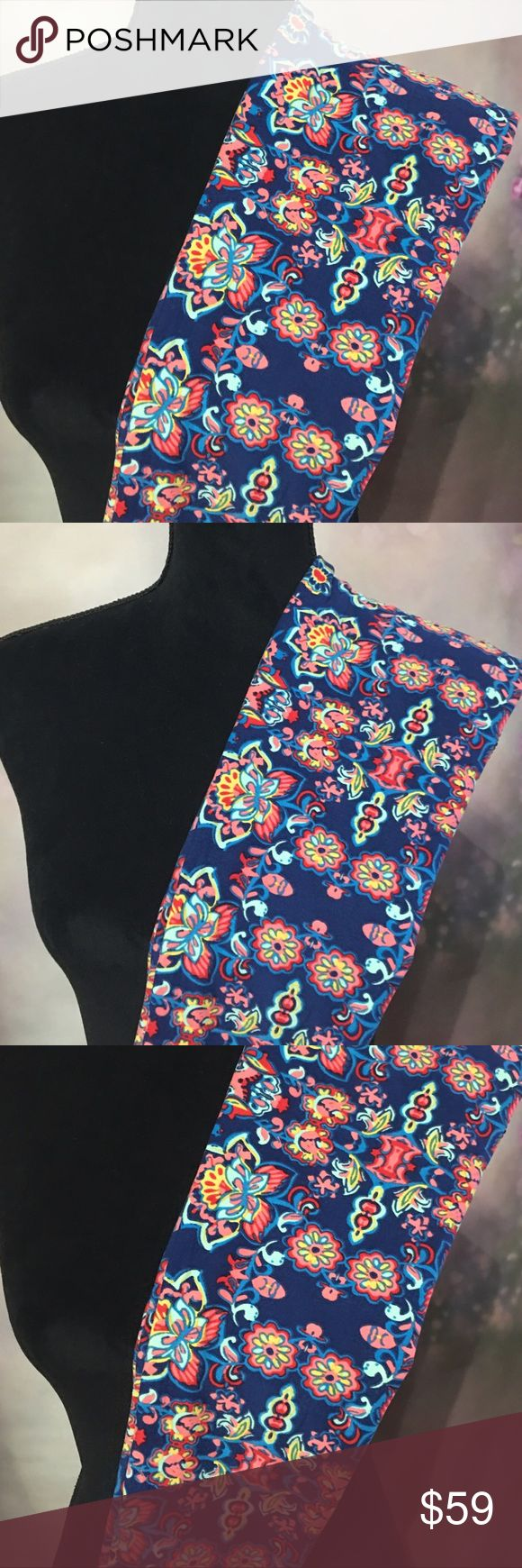 Lularoe NWT OS Leggings Floral Favorite These sell fast.  Beautiful colorful & vibrant legging. LuLaRoe Other