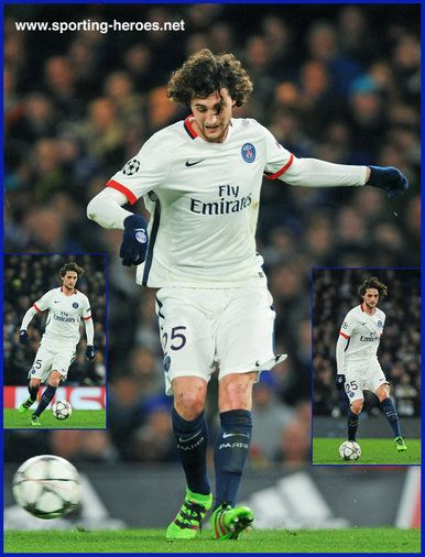 Adrien RABIOT - Paris Saint-Germain - 2015-16 Champions League K.O. games.