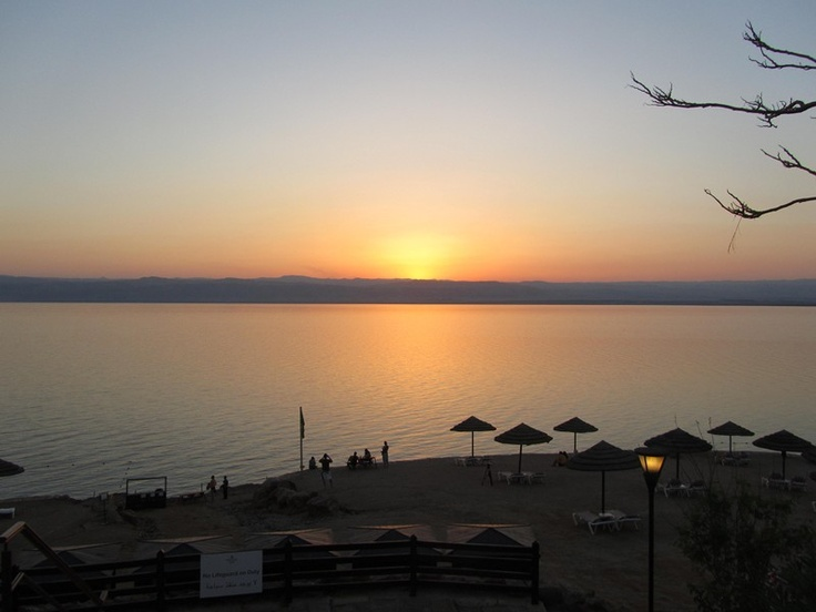 Sunset in the Dead sea, Jordan. It is truly a magical place