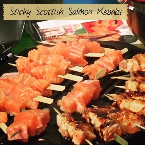 BBQ Sticky Scottish Salmon Kebabs with Sweet Chilli & Honey at a Salmonliscious #RHS2015