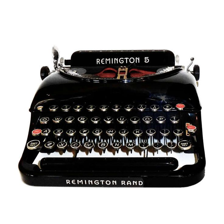 1935 Streamline Remington 5 Portable Typewriter | From A Unique Collection  Of Antique And Modern Desk