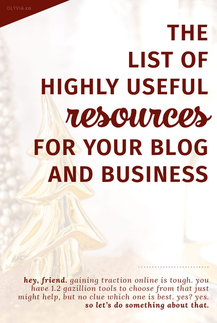 A smart list for the best blogging resources + online tools! The recommendations for webhosts, website themes, graphic design apps, social media schedulers, books, + lots more will help you have the advantage in building your brand online.