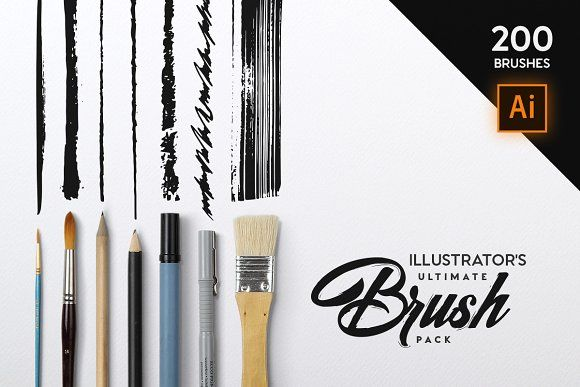 Illustrator's Ultimate Brush Pack by Tugcu Design Co. on @creativemarket