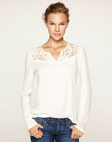 Ethereal Lace T-Shirt - Tops & Tees - Lucky Brand Jeans    -lace inset
