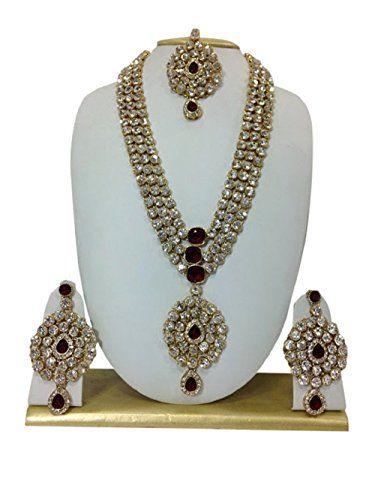 Elegant Red Bridal Indian Bollywood Kundan Wedding Wear W... https://www.amazon.com/dp/B01N6WBTS7/ref=cm_sw_r_pi_dp_x_CHNWyb25KA1NR