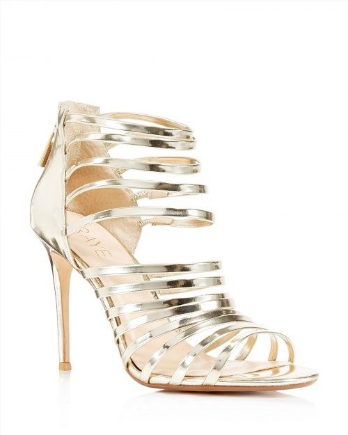 196.00$  Watch now - http://viqfd.justgood.pw/vig/item.php?t=kwa48fe12608 - Raye Brielle Metallic Strappy High Heel Sandals 196.00$