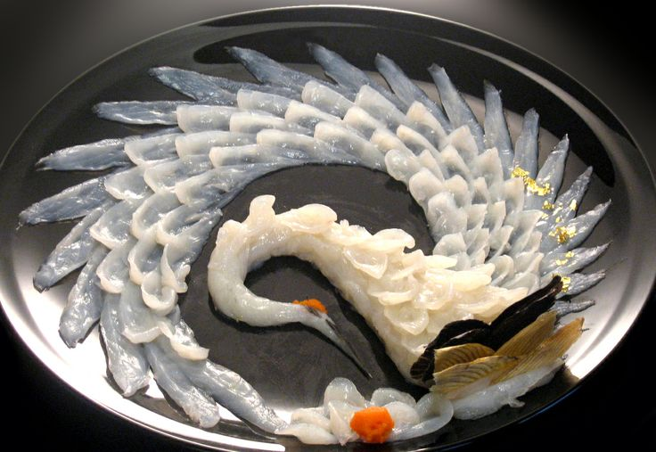 "I can't believe this is sashimi! Looks beautiful, but don't know if the cut is great for that fish or not. ""Sashimi"""