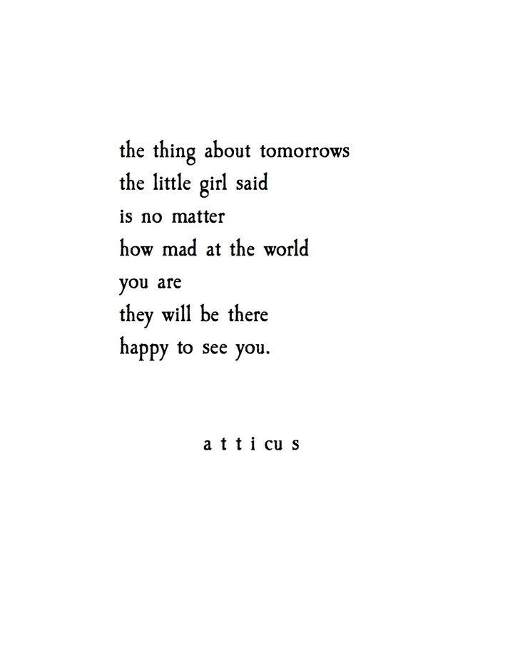 'Tomorrows' @atticuspoetry #atticuspoetry