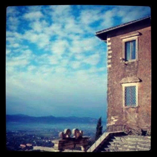 Immagine panoramica dal Tempio della Fortuna Primigenia.
