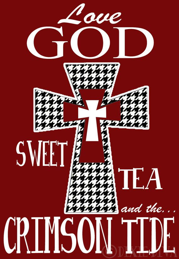 Houndstooth Cross Love God and Crimson Tide soooooo just bought this! I swear by this t shirt!