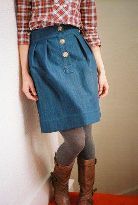 kinda cute :): Style Boards, Inspiration Ideas Clothing, Clothing Styl, Sewing Special, Sewing Inspiration, Denim Alison, Alison Skirts, Style Swag, Denim Skirts