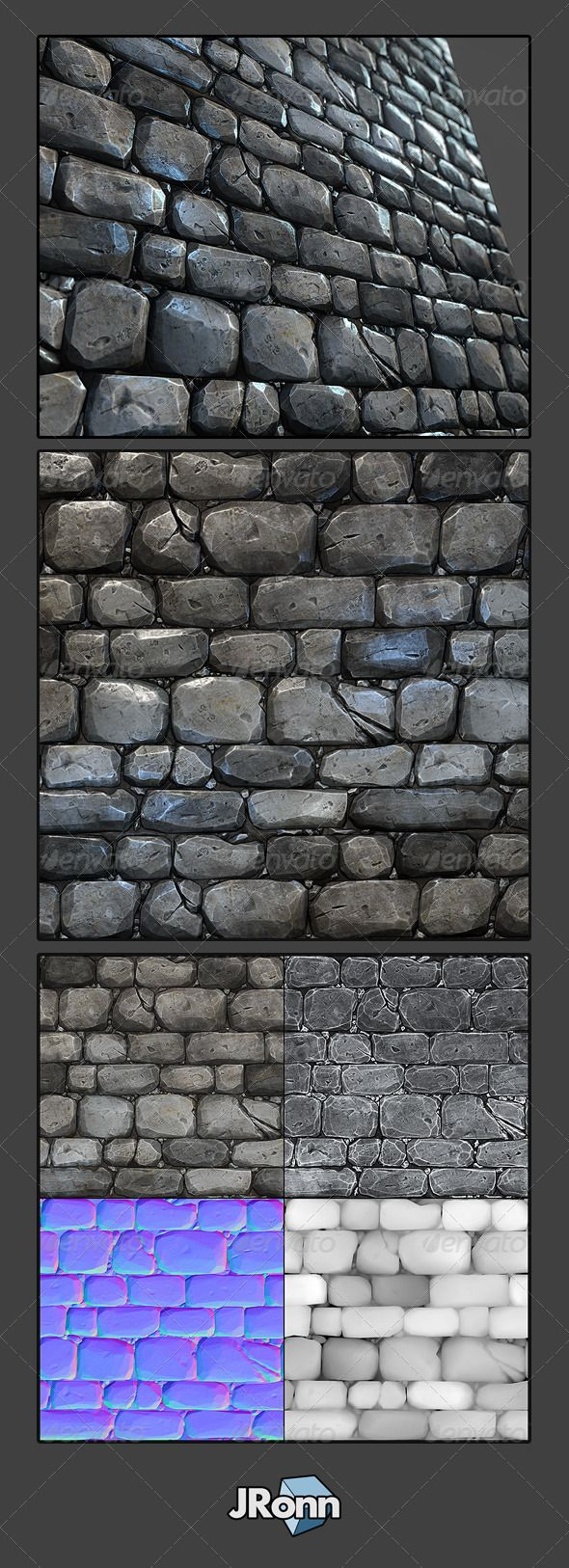 Stone Wall Tile 03 - 3DOcean Item for Sale