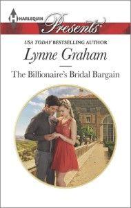 #Giveaway THE BILLIONAIRE'S BRIDAL BARGAIN by LYNNE GRAHAM @lynne__graham  @HarlequinBooks