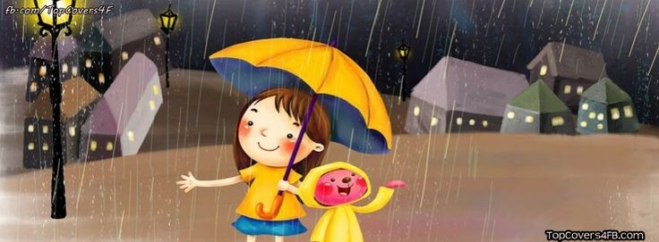 Best Raining Doll facebook covers for you to use on your facebook profile!