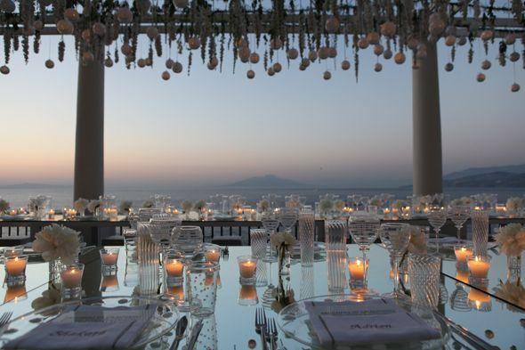 capri destination wedding at sunset on front terrace of luxury hotel in capri italy we designed: sugokuii events www.sugokuii-events.com #capriwedding #luxuryweddingitaly
