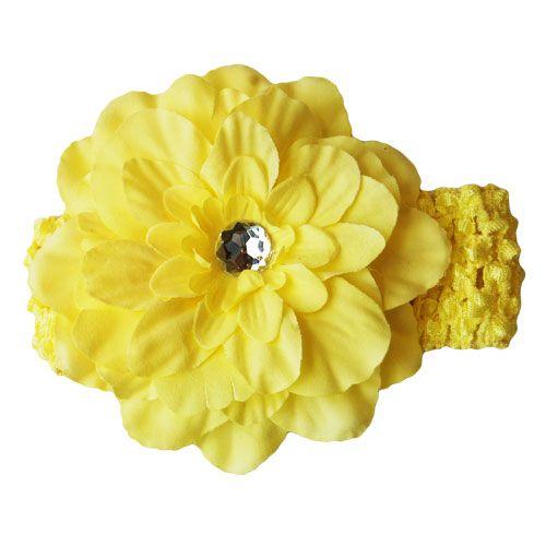 Yellow Peony Flower Headband