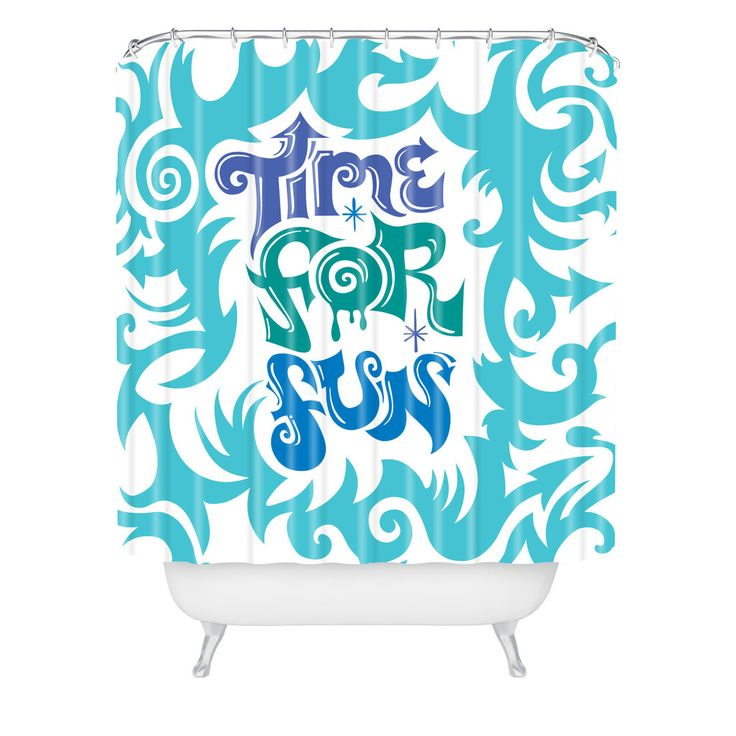 Andi Bird Time For Fun Shower Curtain | DENY Designs Home Accessories
