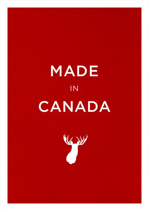 Canada moose poster