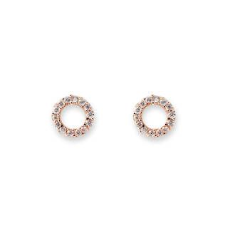 Buy Rose Gold Cz Circle Earrings at competitive prices from Fishers on Cameron