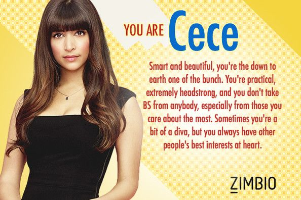 """I took the """"Which New Girl Character are you?"""" and I got Cece!"""