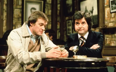 Rodney Bewes and James Bolam as Bob and Terry in The Likely Lads.