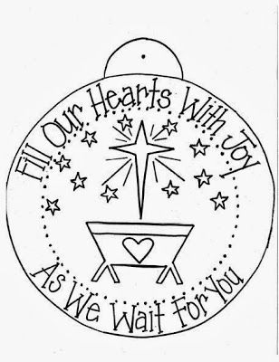 Fill our hearts with joy as we wait for you- Advent ornament printable