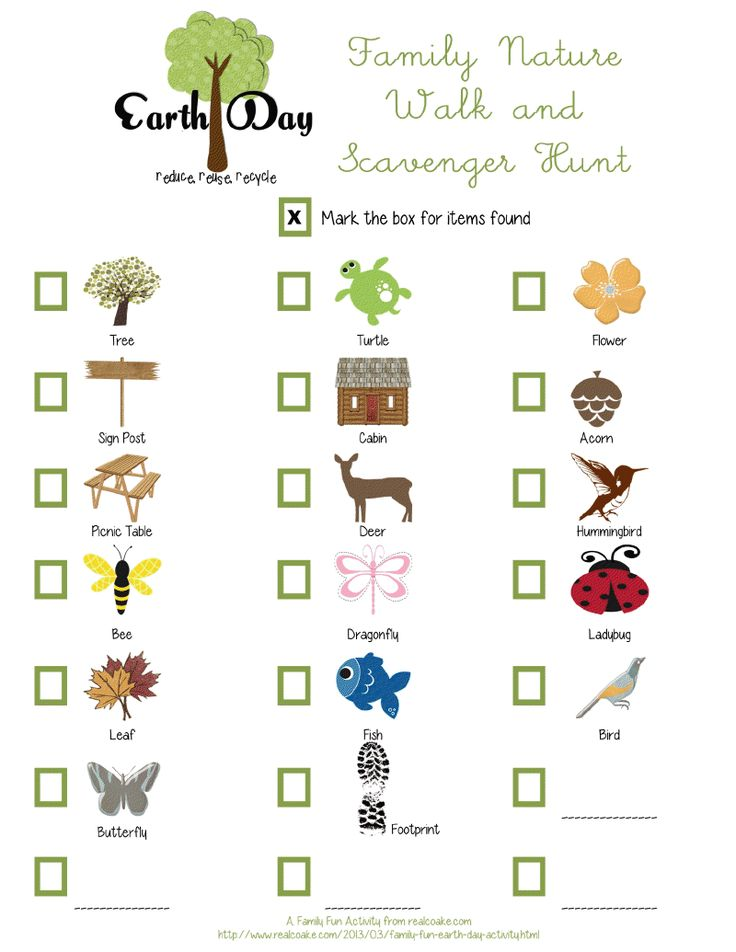 earth day nature walk scavenger guiding stuff pinterest. Black Bedroom Furniture Sets. Home Design Ideas