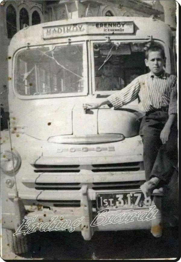 """HAKİKİ KÖY OTOBÜSÜ:-)) 1948'de Kadıköy - Erenköy """"otobüsü""""..."""