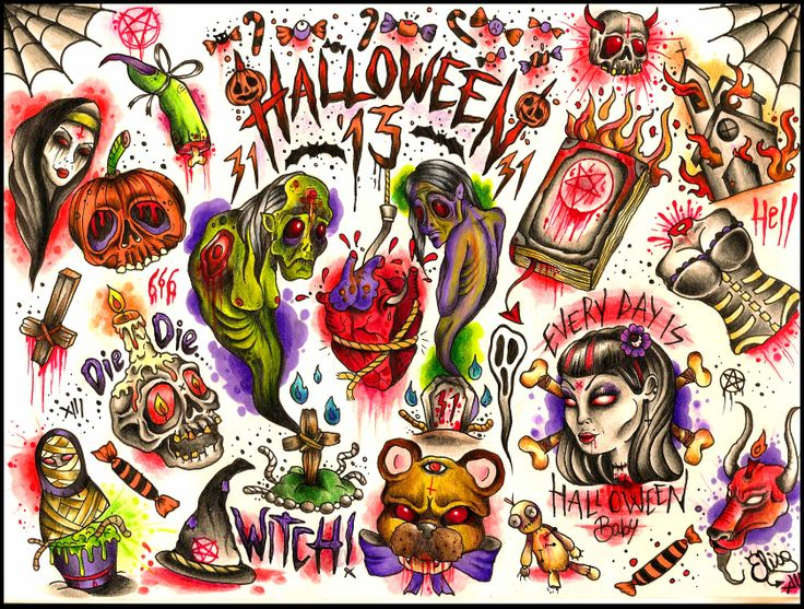 Halloween tattoo designs by elisa devihate contact for Loveland tattoo shops