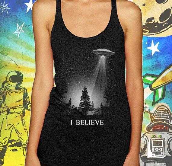 I Believe Women's UFO Tank XFiles Tank