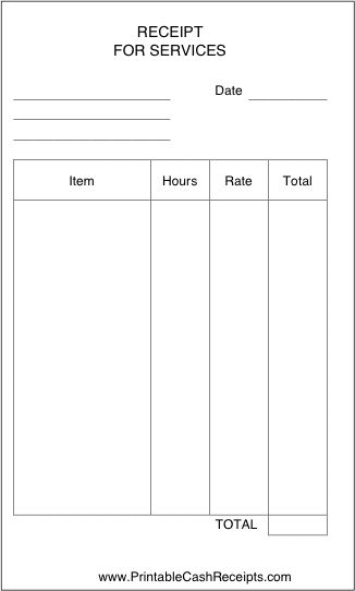 This simple receipt can be used by a business, freelancer, laborer, or anyone who bills by the hour for services rendered. Free to download and print