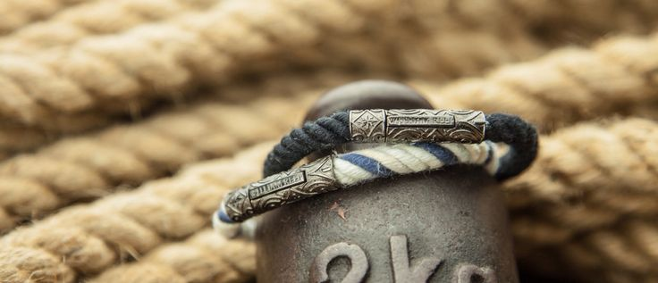 Handmade with love. The cotton rope bracelets by William Reep with a black matte sterling Silver clasp. #getreeped