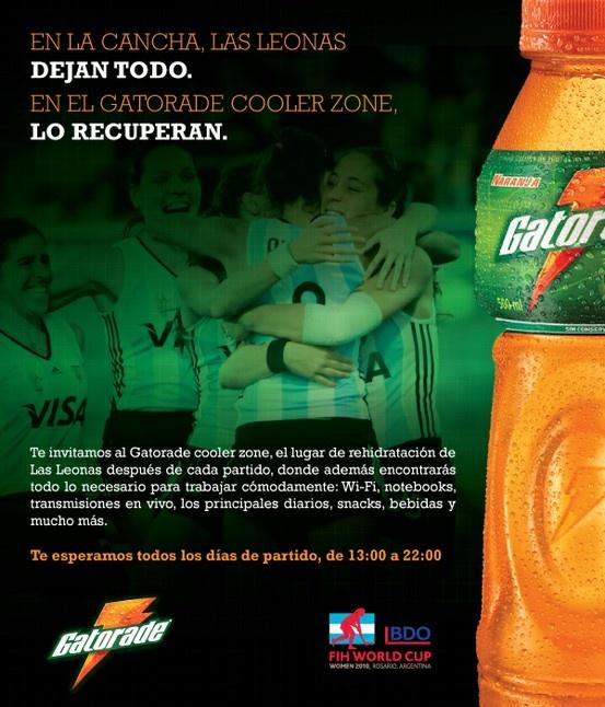Publicidad Cooler Zone, Gatorade. Para 5 Yardas.
