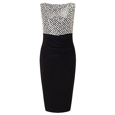 Buy Lauren Ralph Lauren Sleeveless Sequin Dress, Black Online at johnlewis.com