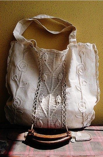 No.4 Cotton Crochet Bag by SundayFactory on Etsy, $35.00