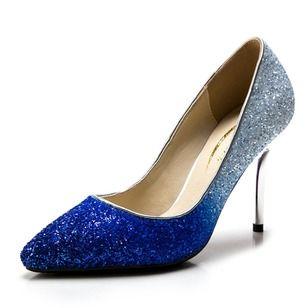De mujer Salón Cerrados Tacones Tacón stilettos Brillo Chispeante Zapatos
