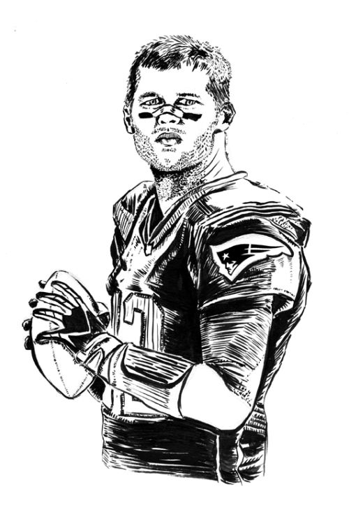 Here is portrait that I finally got to upload!  This portrait was done, due to my appreciation of Tom Brady as a Quarterback of the New England Patriots and how he has had the most playoff victories of any Quarterback in the history of the NFL.