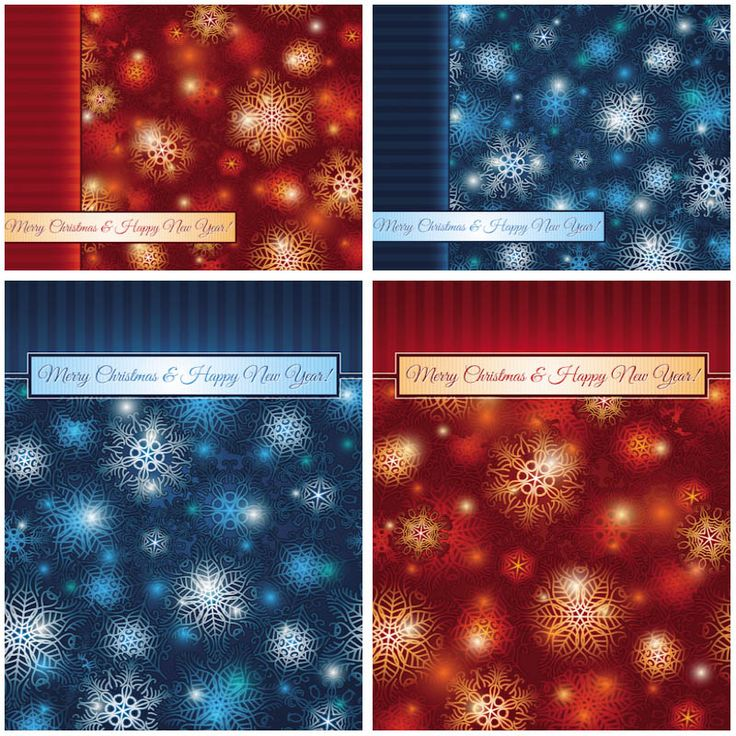Frosted Christmas cards vector